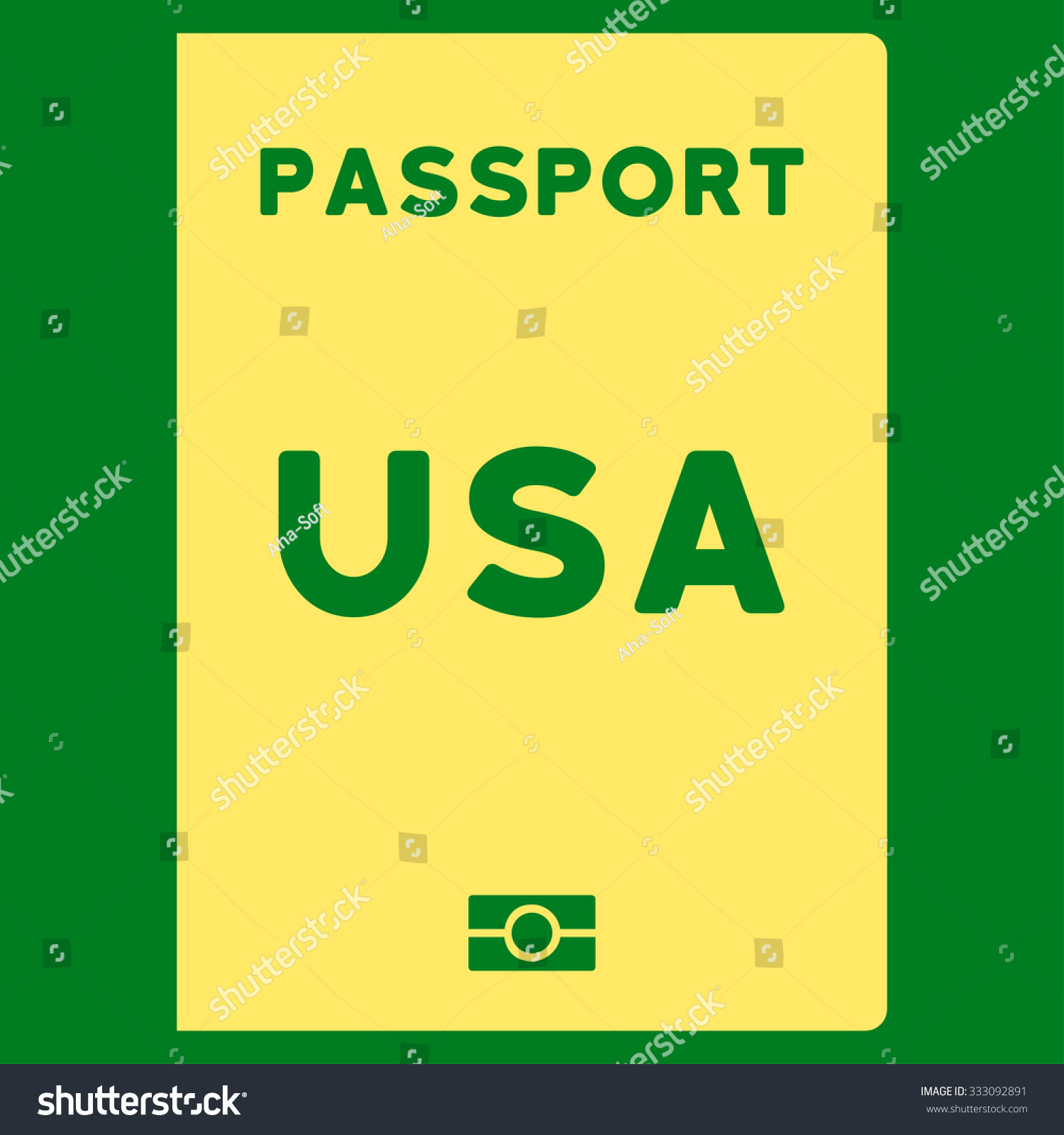 American passport vector icon style flat stock vector 333092891 american passport vector icon style is flat yellow symbol rounded angles green background biocorpaavc