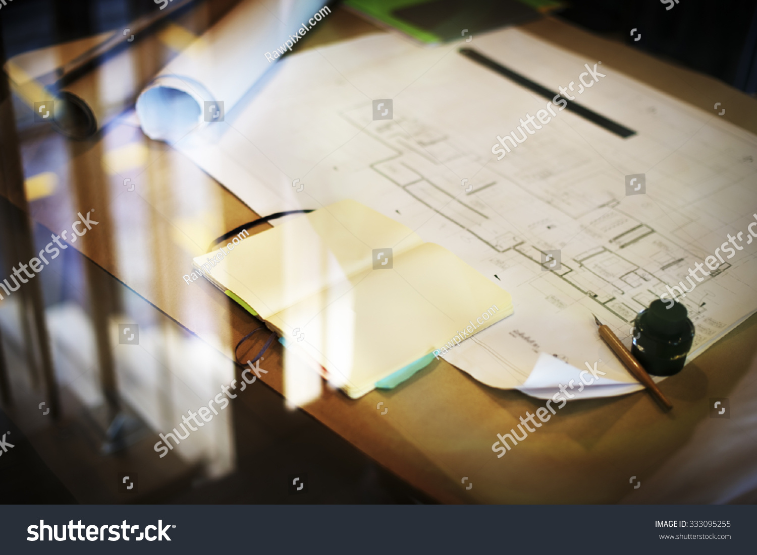 Construction blueprint project working planning concept stock construction blueprint project working planning concept malvernweather Choice Image