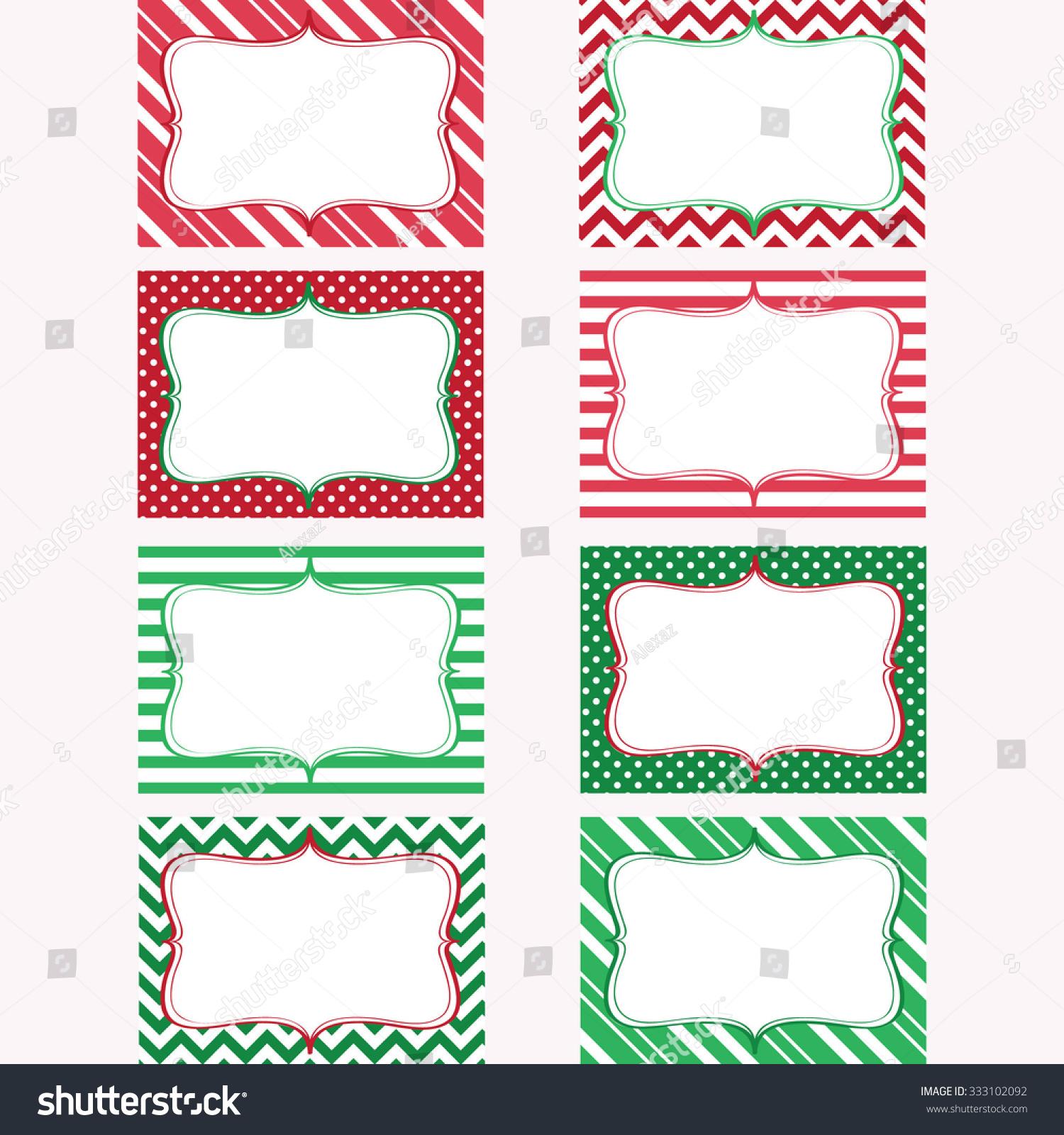 christmas printable labels set tags photo stock vector royalty free