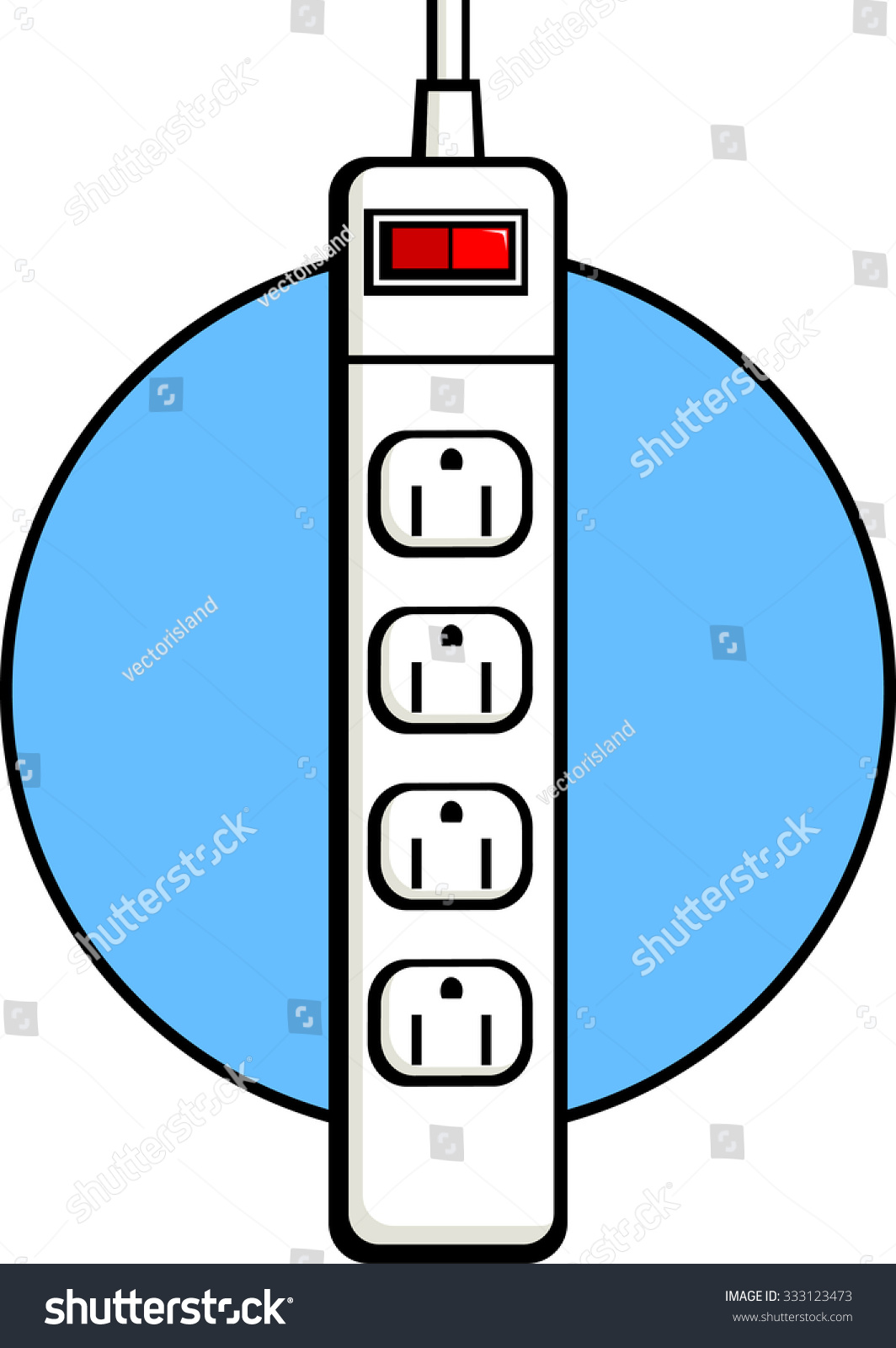 Surge Protector Power Strip Clip Art