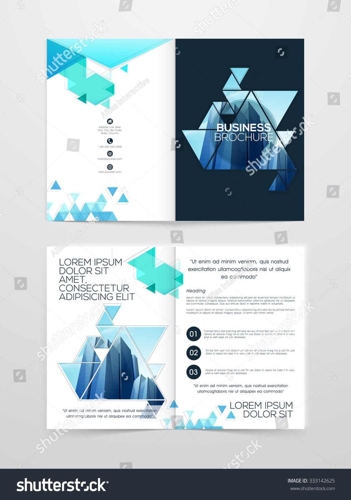 Creative two page professional brochure template stock for Two page brochure template