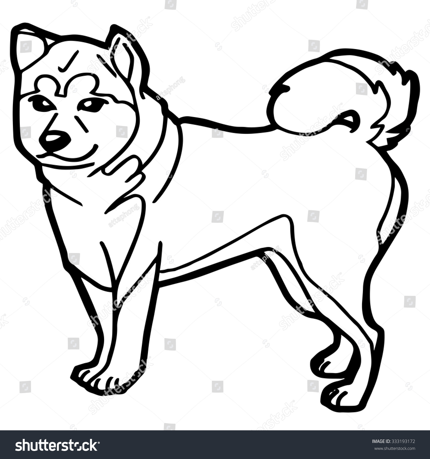 dog puppy coloring page vector stock vector 333193172 shutterstock