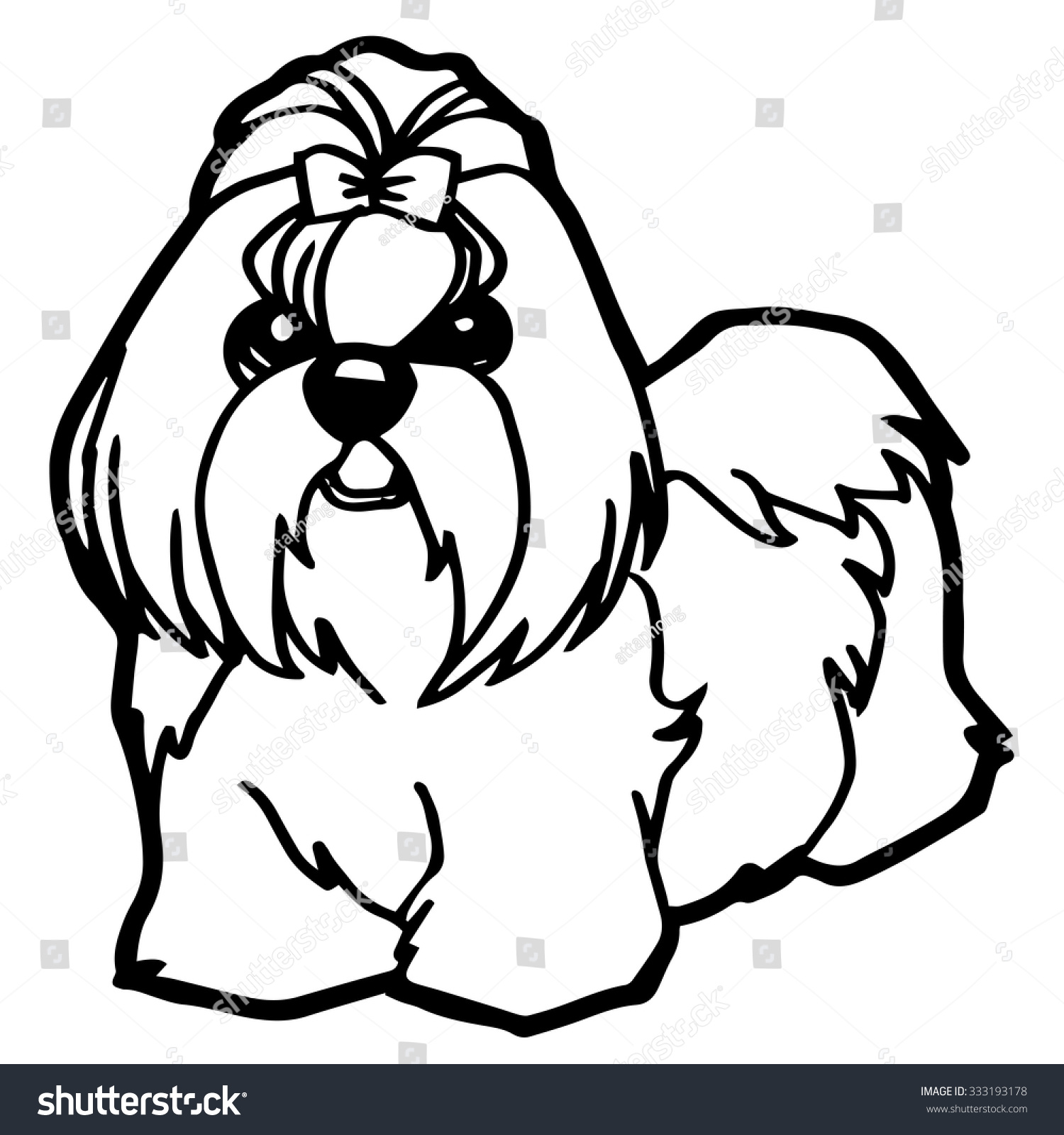Dog Puppy Coloring Page Stock Vector Shutterstock