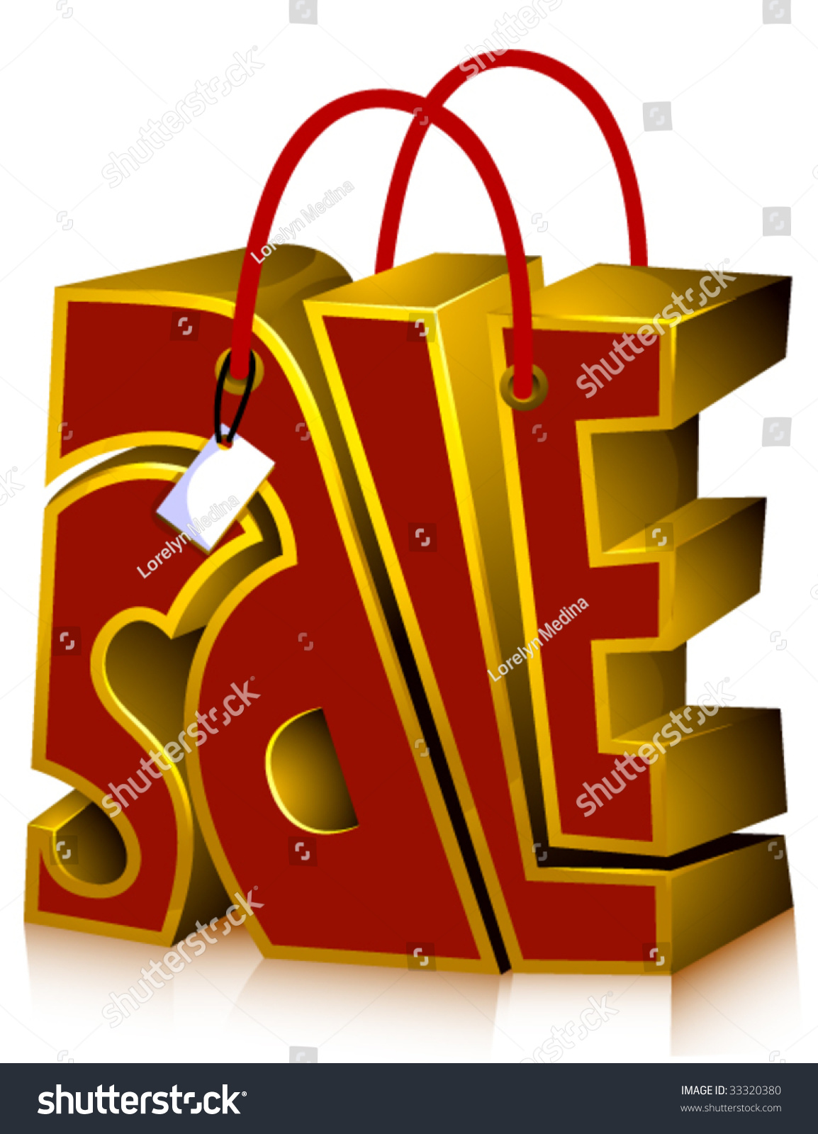 Sale Shopping Bag Vector Stock Vector 33320380 - Shutterstock