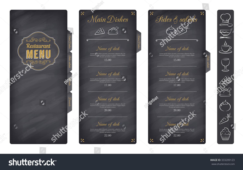 Classic Restaurant Menu Template Nice Food Stock Vector (Royalty ...