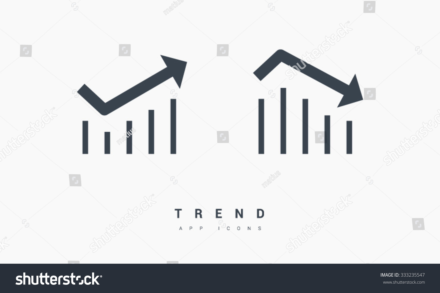 Business Graph Icon Isolated On White Stock Vector