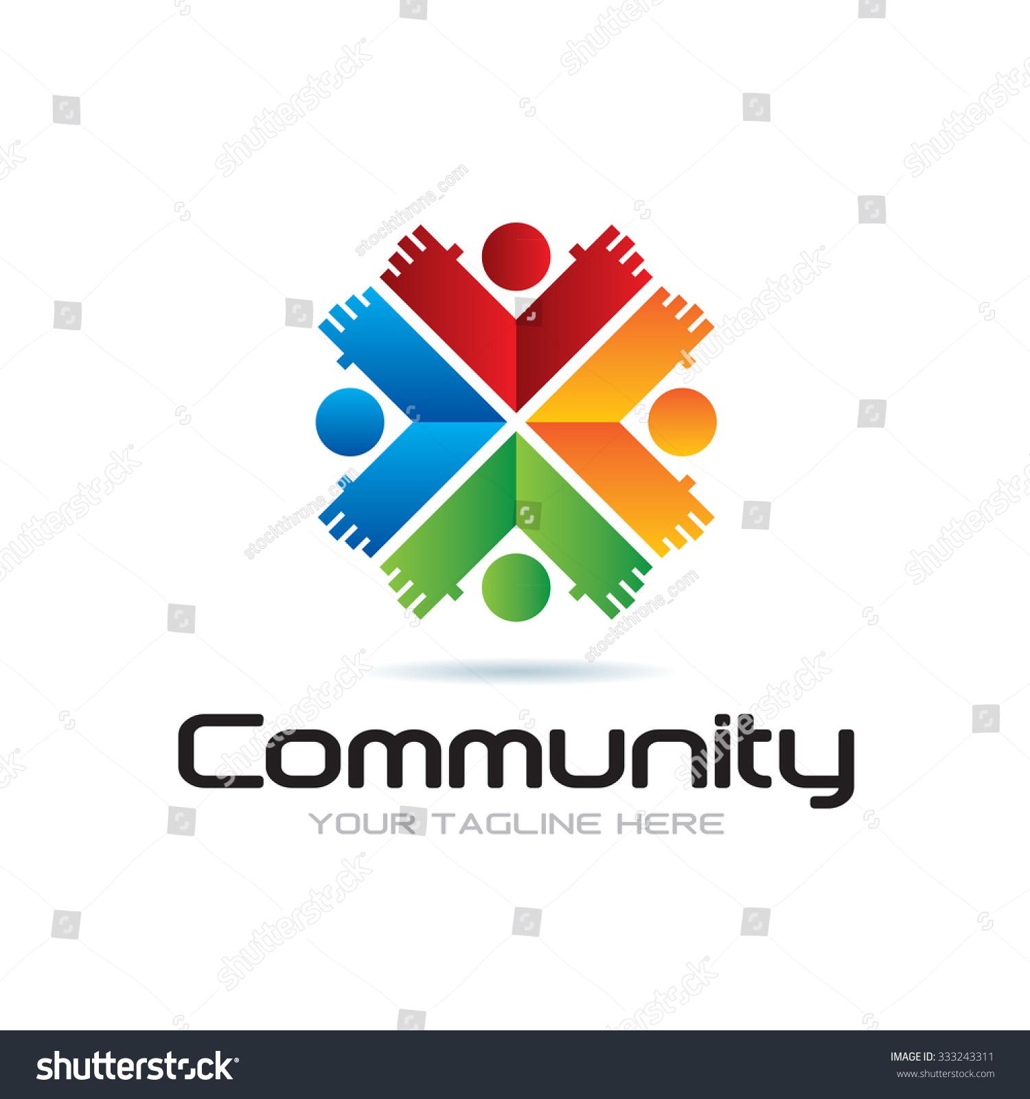 Community Icon Logo Stock Vector 333243311 - Shutterstock