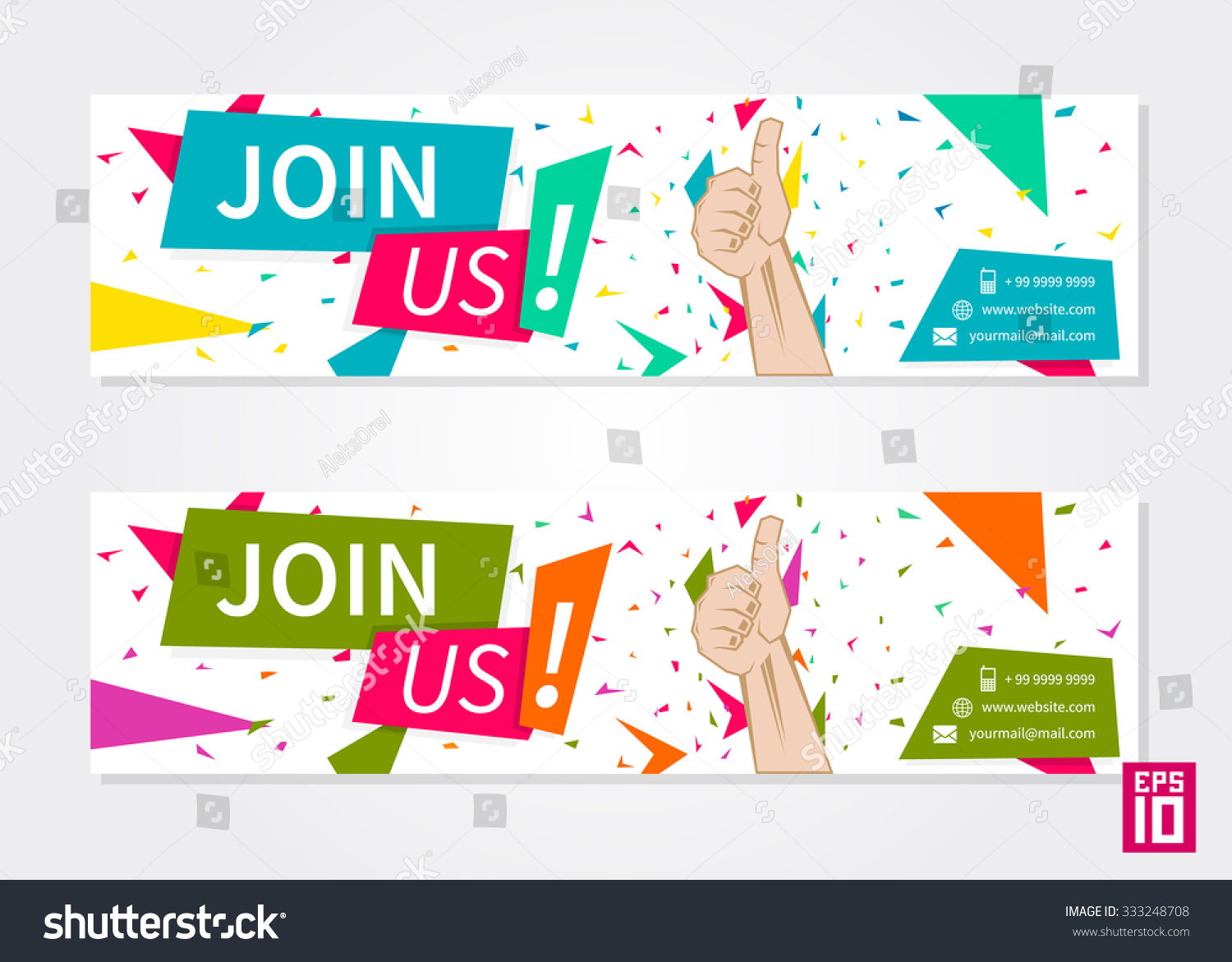 vector promotional banner join us advertisement stock vector vector promotional banner join us advertisement template