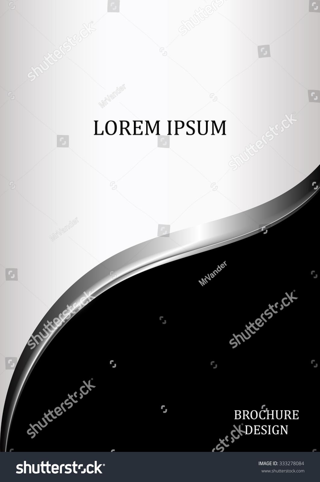 Black White Brochure Template Flyer Design Stock-vektorgrafik ...