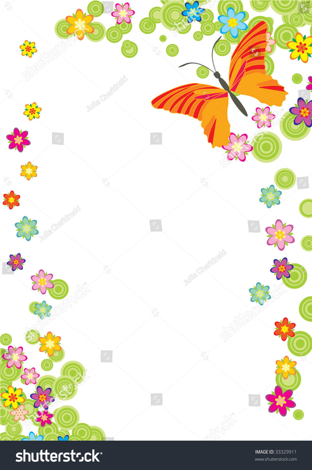 flower butterfly frame