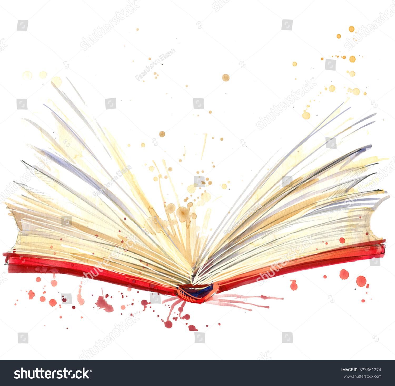 Книга живая рисунок