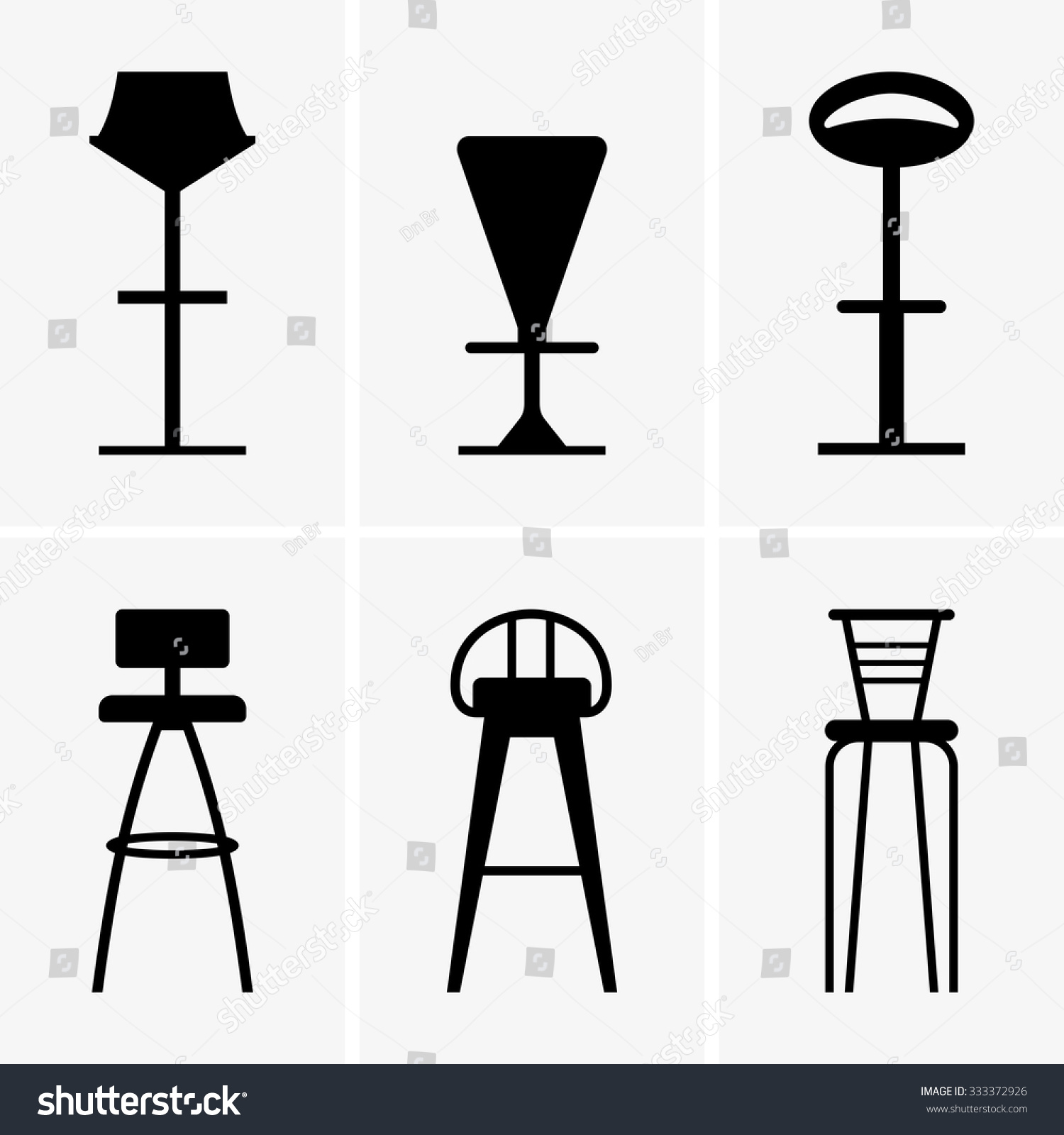 Bar chairs stock vector shutterstock
