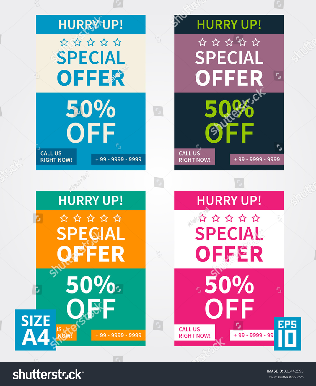 vector flyer design special offer business stock vector  vector flyer design special offer business template size a4