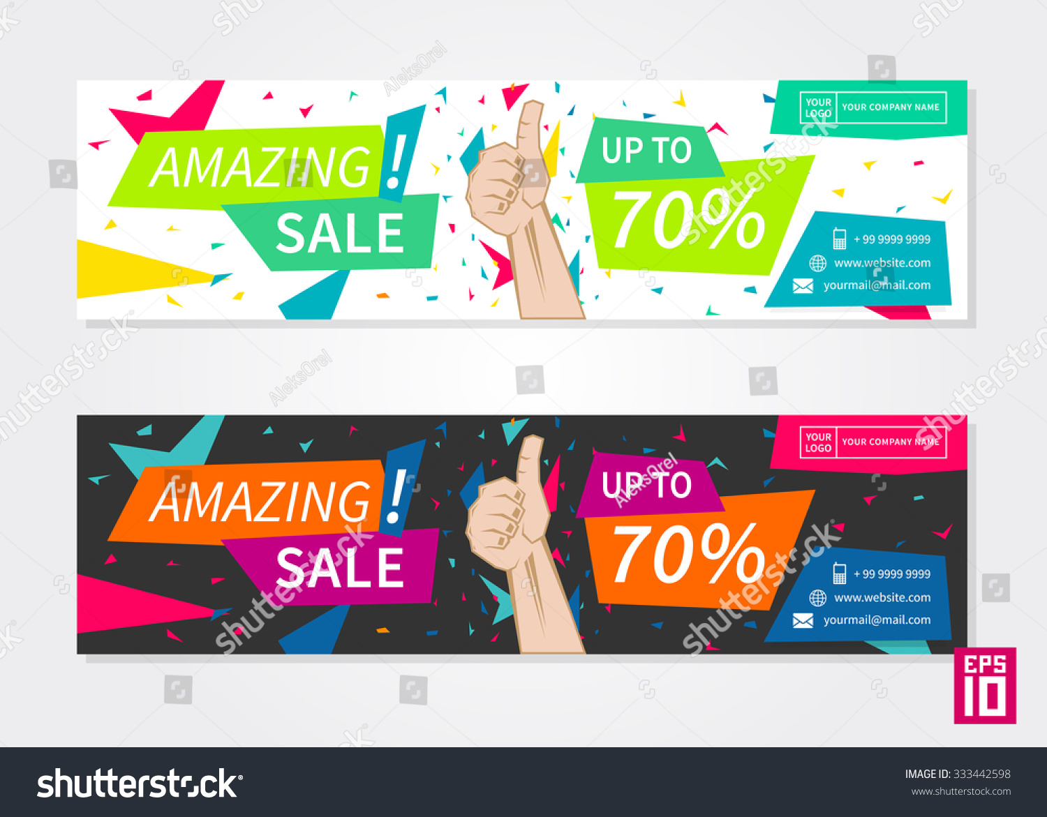 Vector Promotion Banner Amazing Sale Business Vector – Promotional Flyer Template