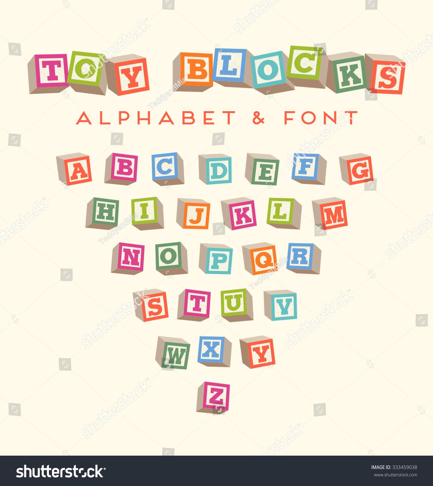 Toy Blocks Font 75
