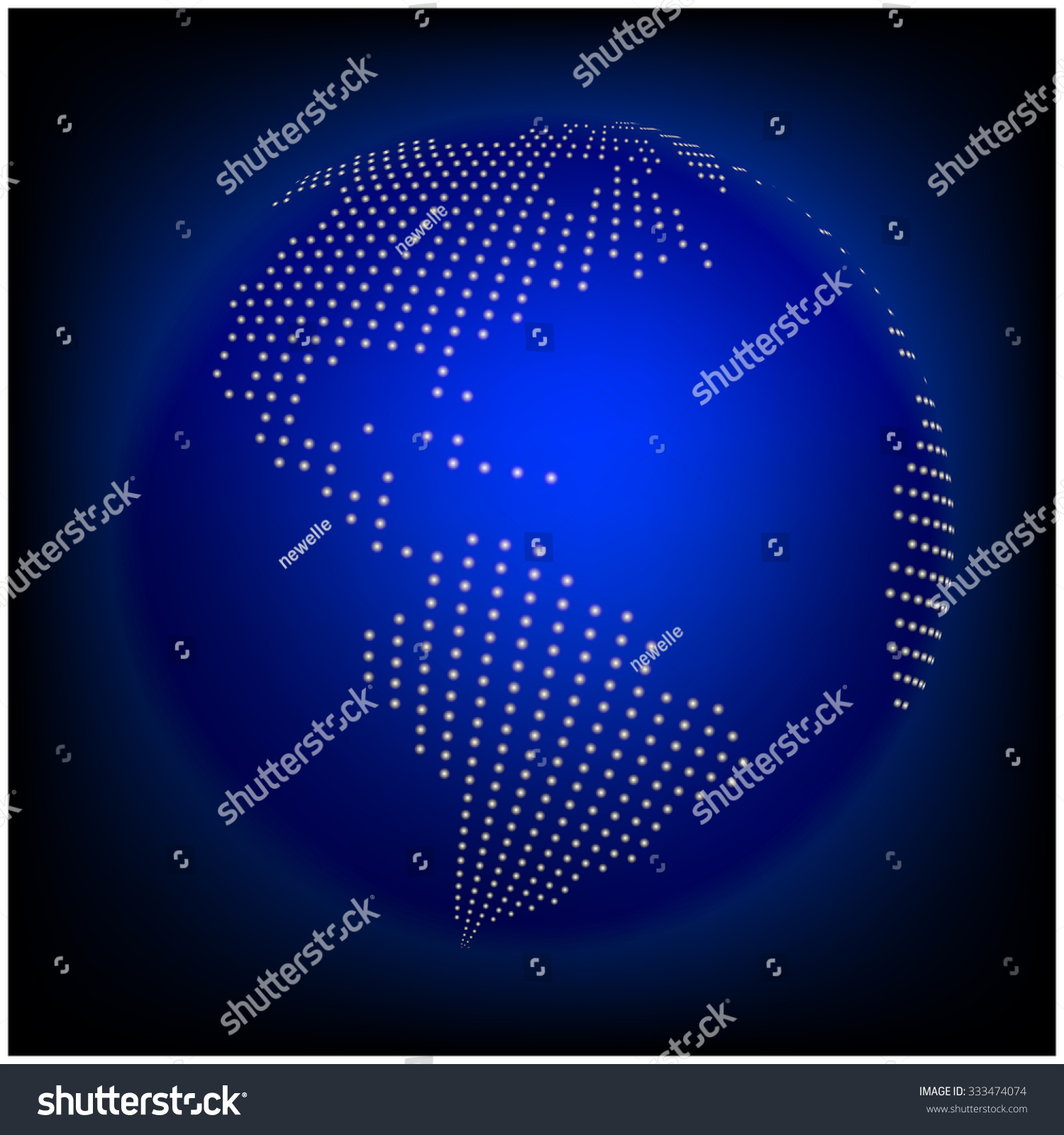 Globe earth world map abstract dotted stock vector 333474074 globe earth world map abstract dotted vector background blue wallpaper illustration gumiabroncs Gallery