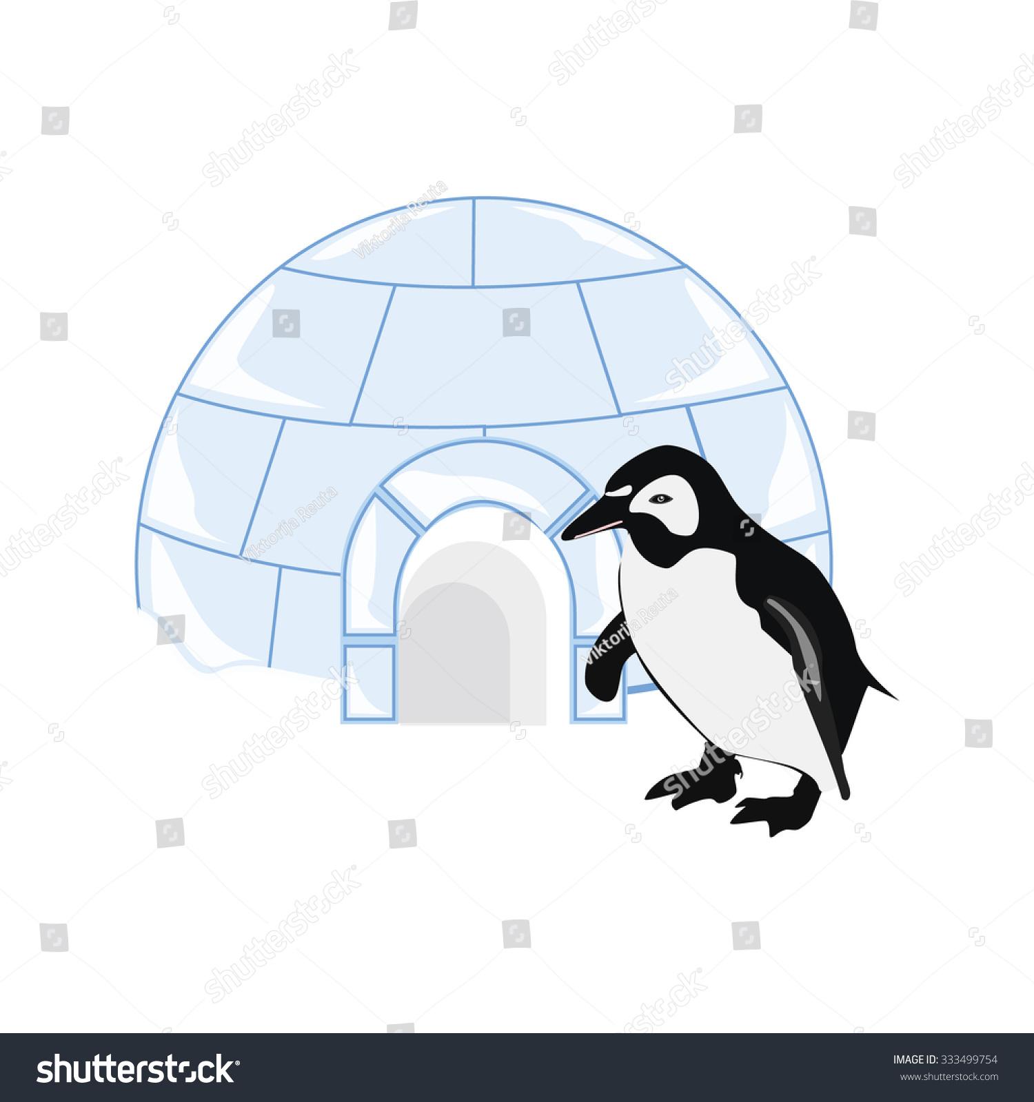 vector illustration snow ice house igloo stock vector 333499754