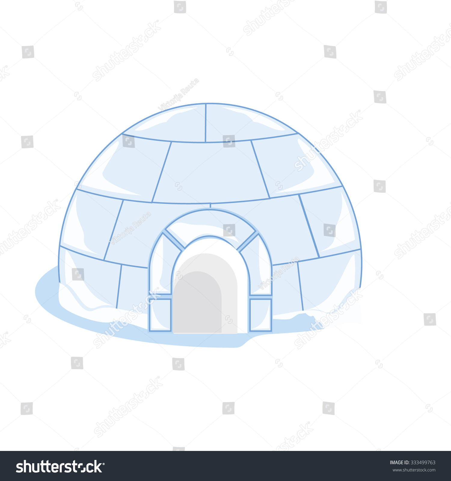 Vector illustration snow ice house igloo stock vector 333499763 vector illustration snow or ice house igloo house made from ice blocks pooptronica