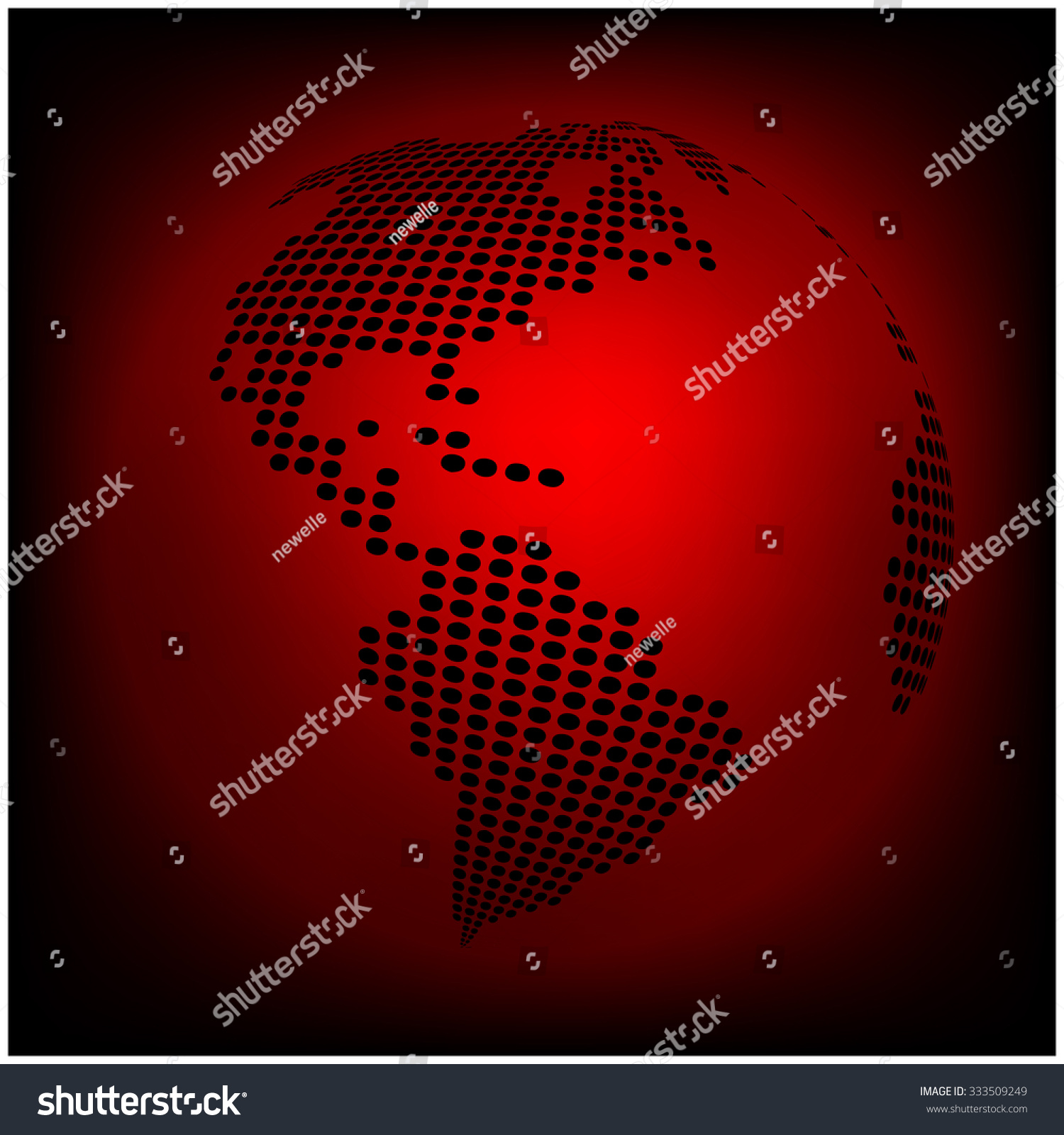 Globe earth world map abstract dotted stock vector 333509249 globe earth world map abstract dotted vector background red wallpaper illustration gumiabroncs Gallery
