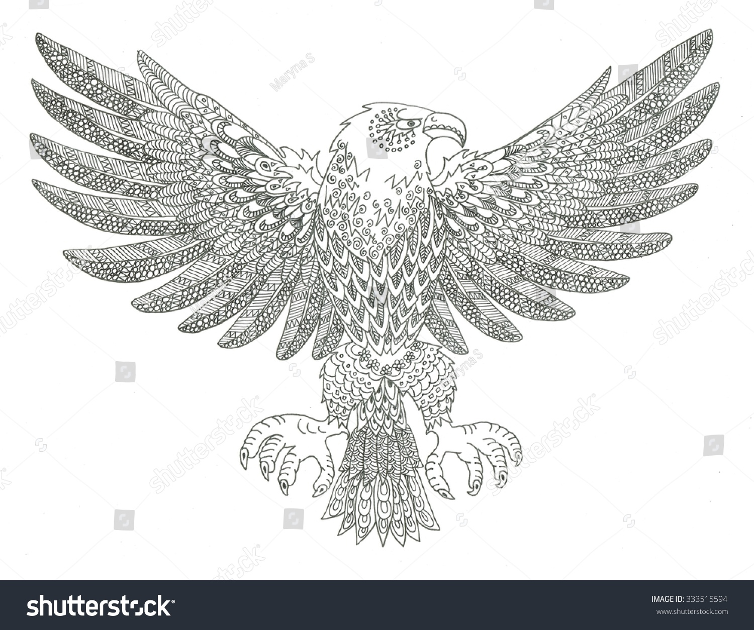 eagle coloring page - Eagle Coloring Page