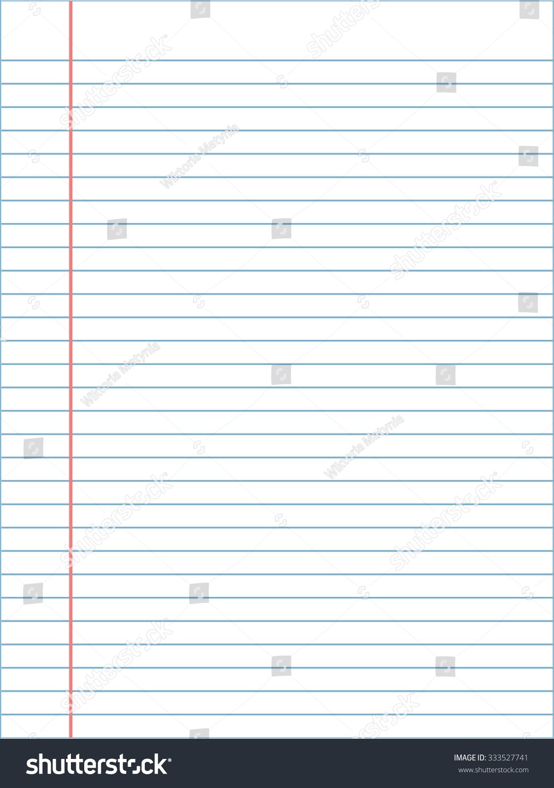 notebook page template