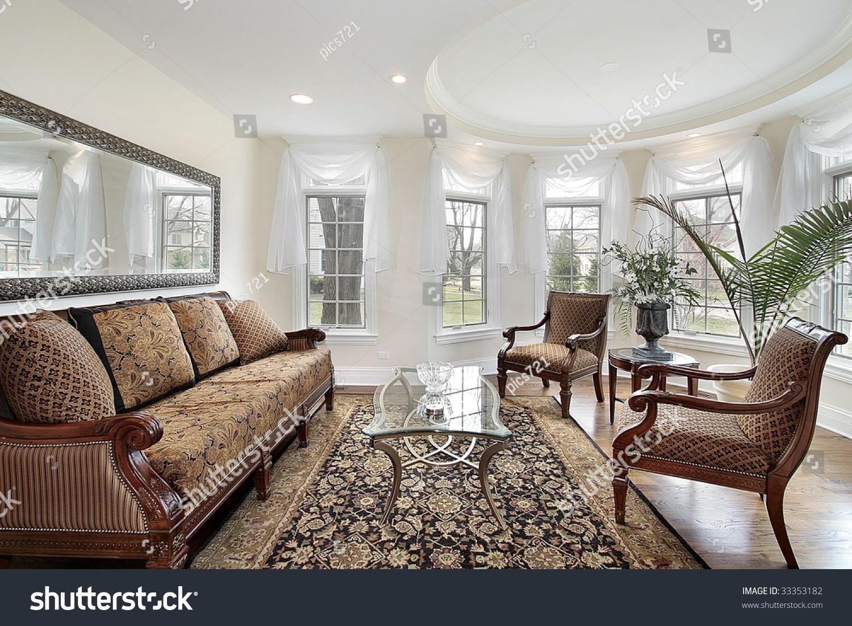 Attractive Suburban Living Room Illustration - Living Room Design ...
