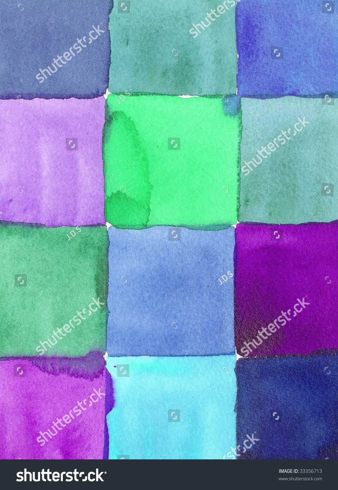 Blue green purple paint squares background stock photo for Blue green purple room