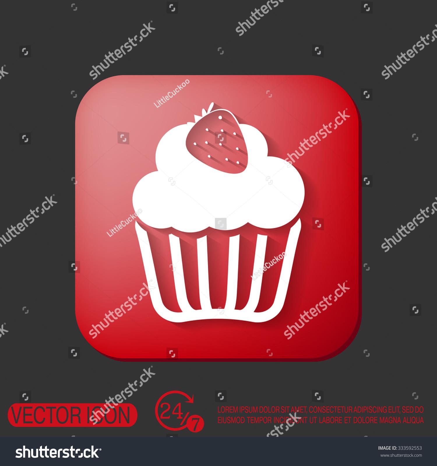 Birthday Cake Icon Symbol Cake Celebrating Stock Vector 333592553