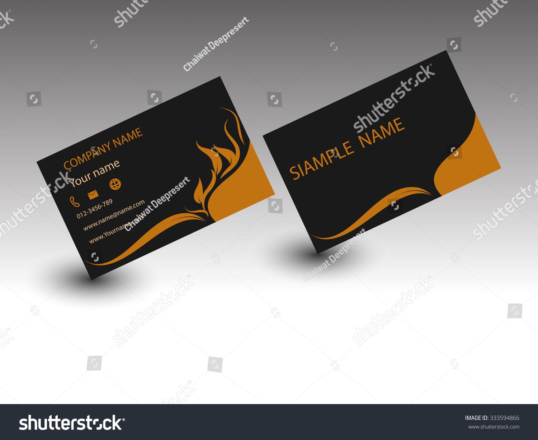 Modern Business Card Template Stock Vector Shutterstock - Modern business cards templates