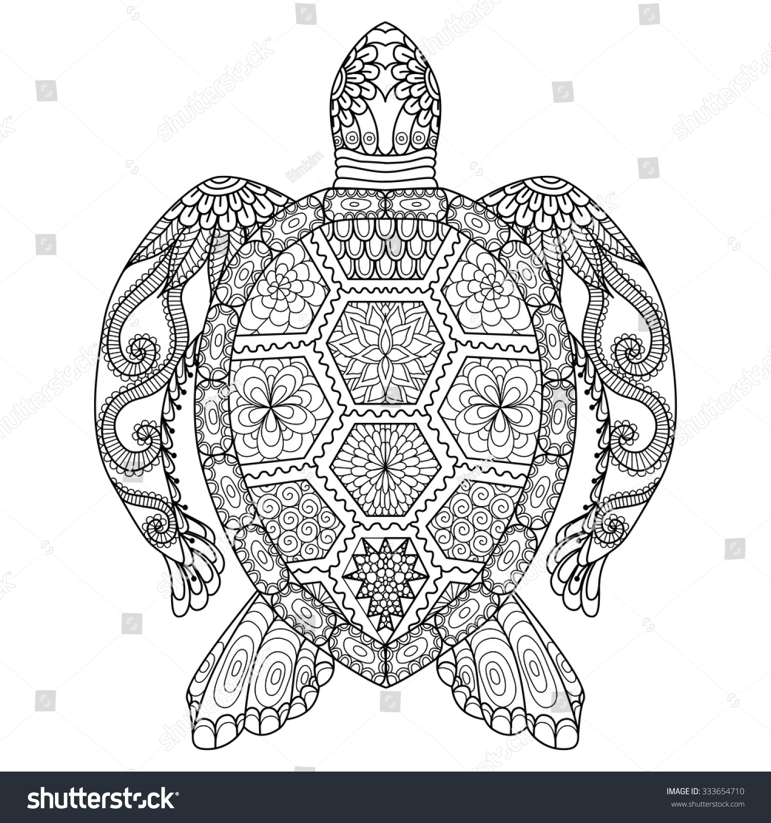 drawing zentangle turtle coloring page shirt stock vector 333654710 shutterstock. Black Bedroom Furniture Sets. Home Design Ideas