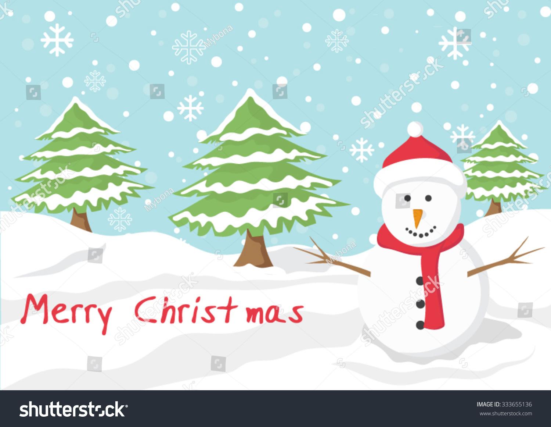 Cartoon clip art christmas background merry stock vector