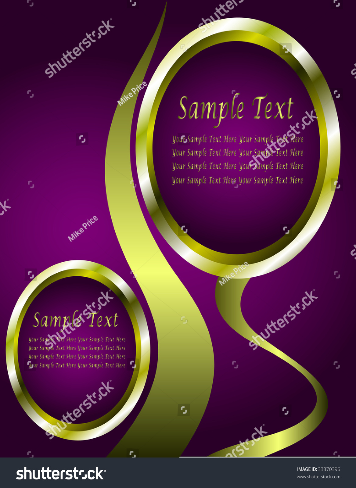 abstract purple and gold business card template with