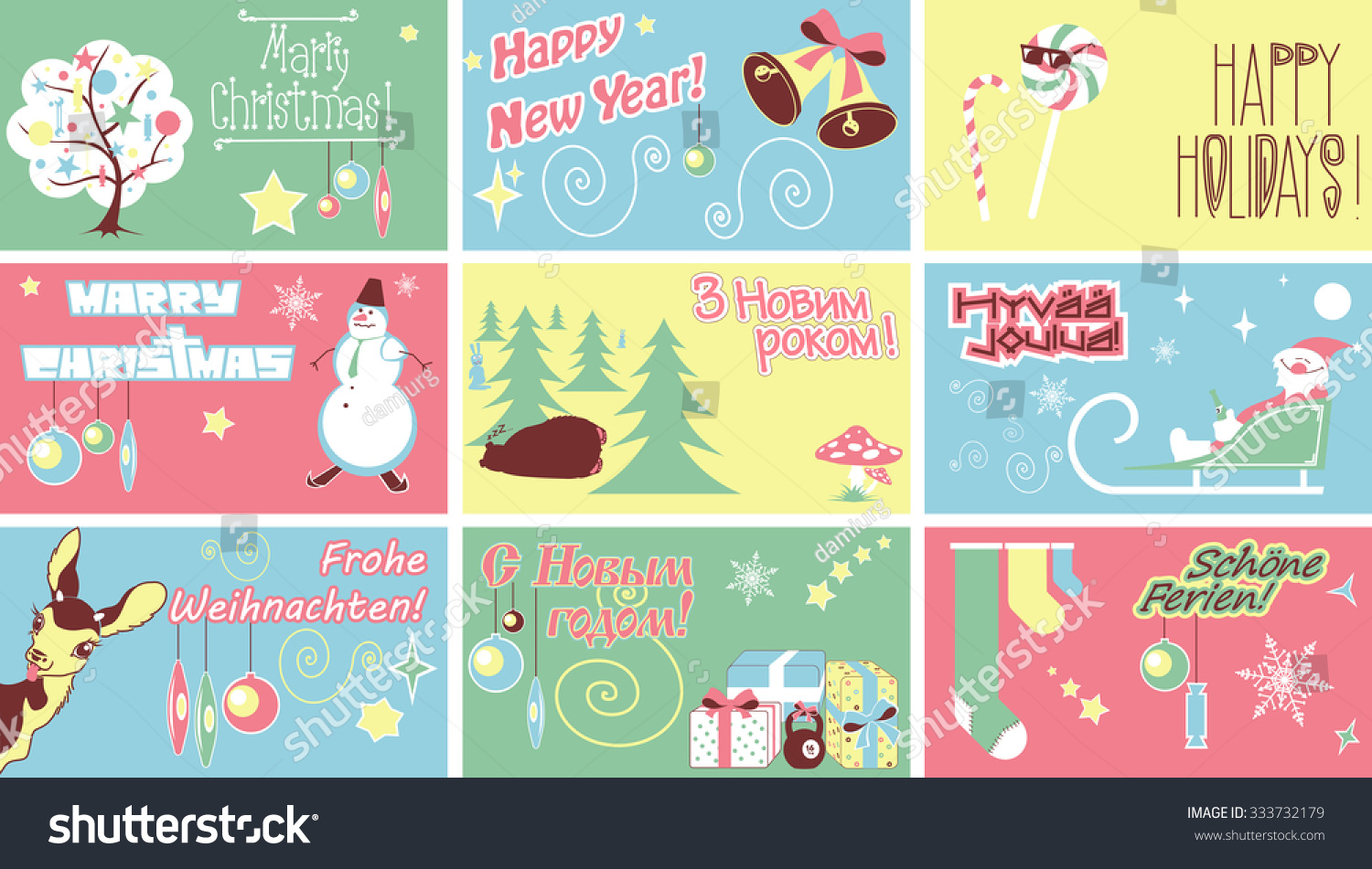 Marry christmas new year holidays humor stock vector royalty free marry christmas new year holidays humor cards contains an inscription in german finnish ukrainian m4hsunfo