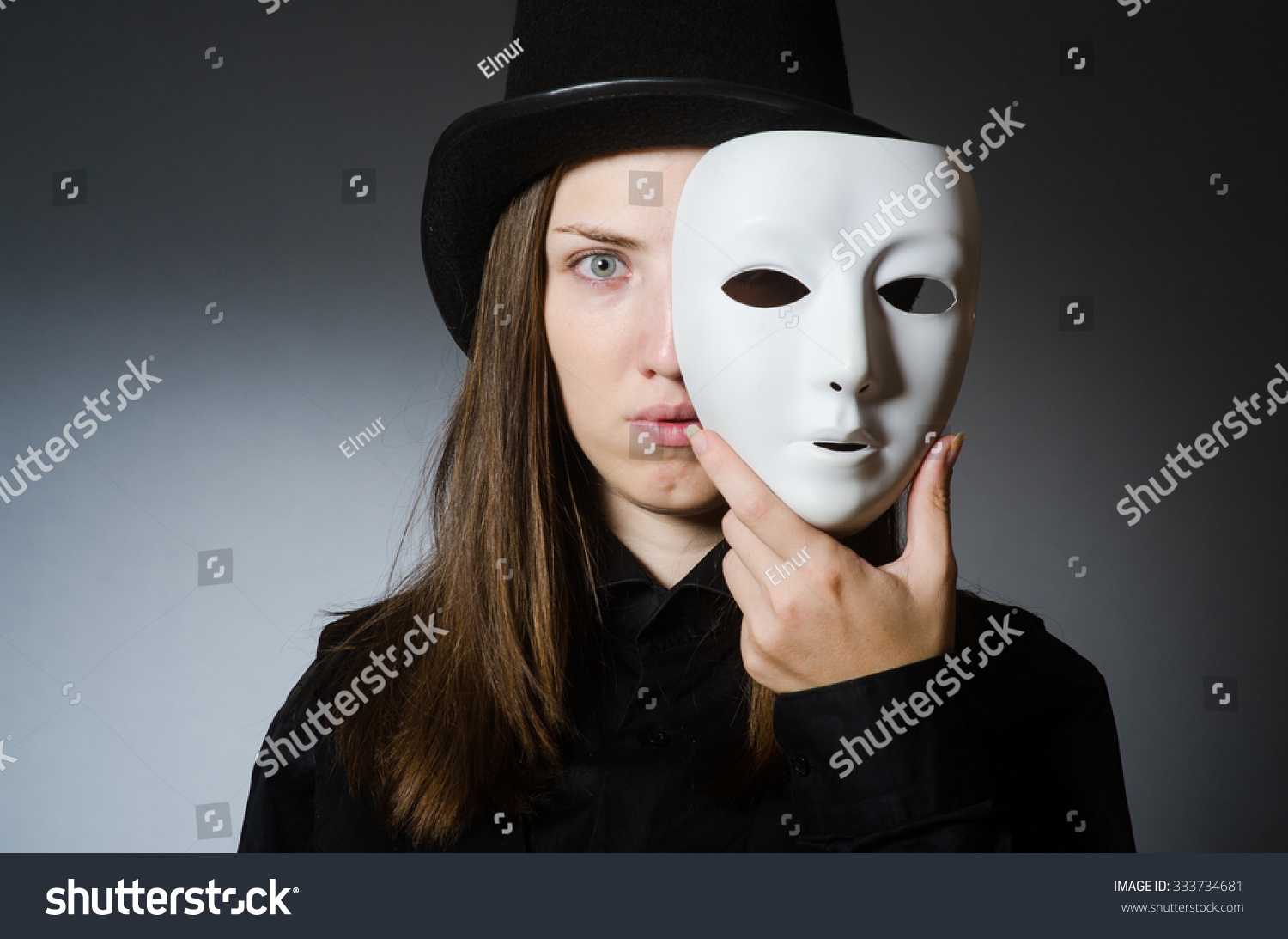 Woman Mask Funny Concept Stock Photo 333734681 - Shutterstock