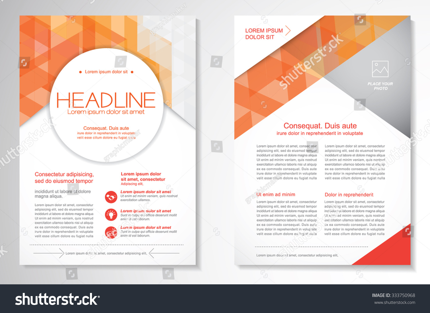 vector brochure flyer design layout template  size a4