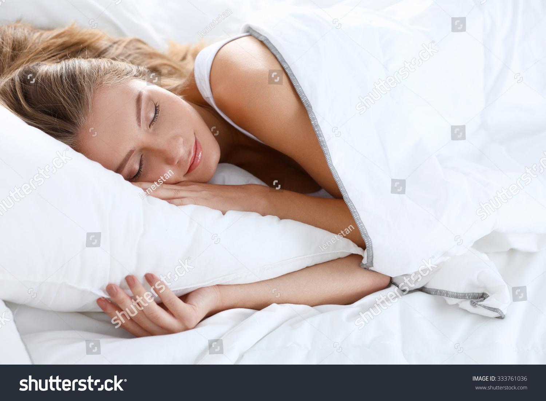 Beautiful Girl Sleeps Bedroom Stock Photo 333761036 Shutterstock