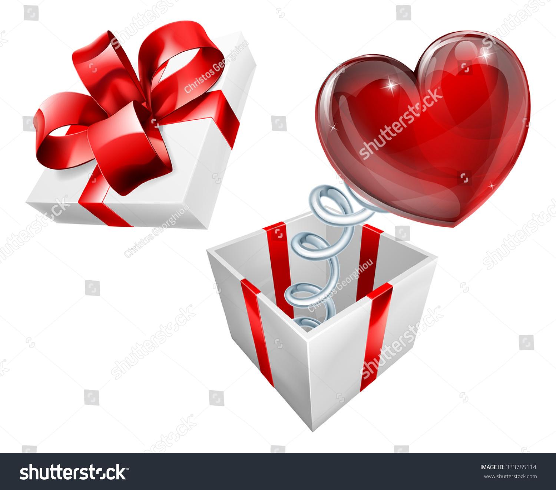 Jack Box Heart Sign Symbol Jumping Stock Vector (Royalty Free ...