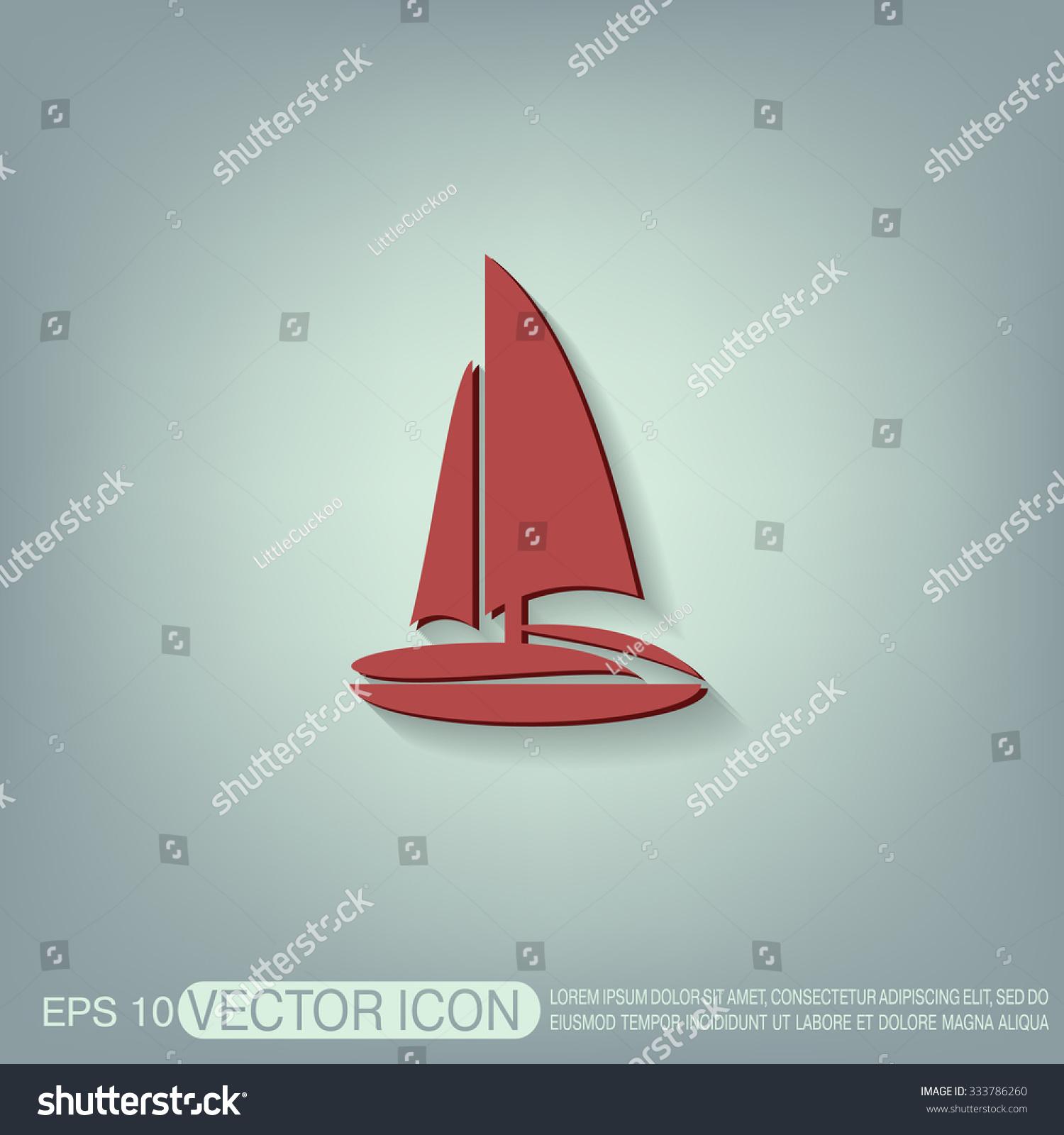 Sailing Ship Symbol Icon Boat Steamer Sailboat Sign Ez Canvas