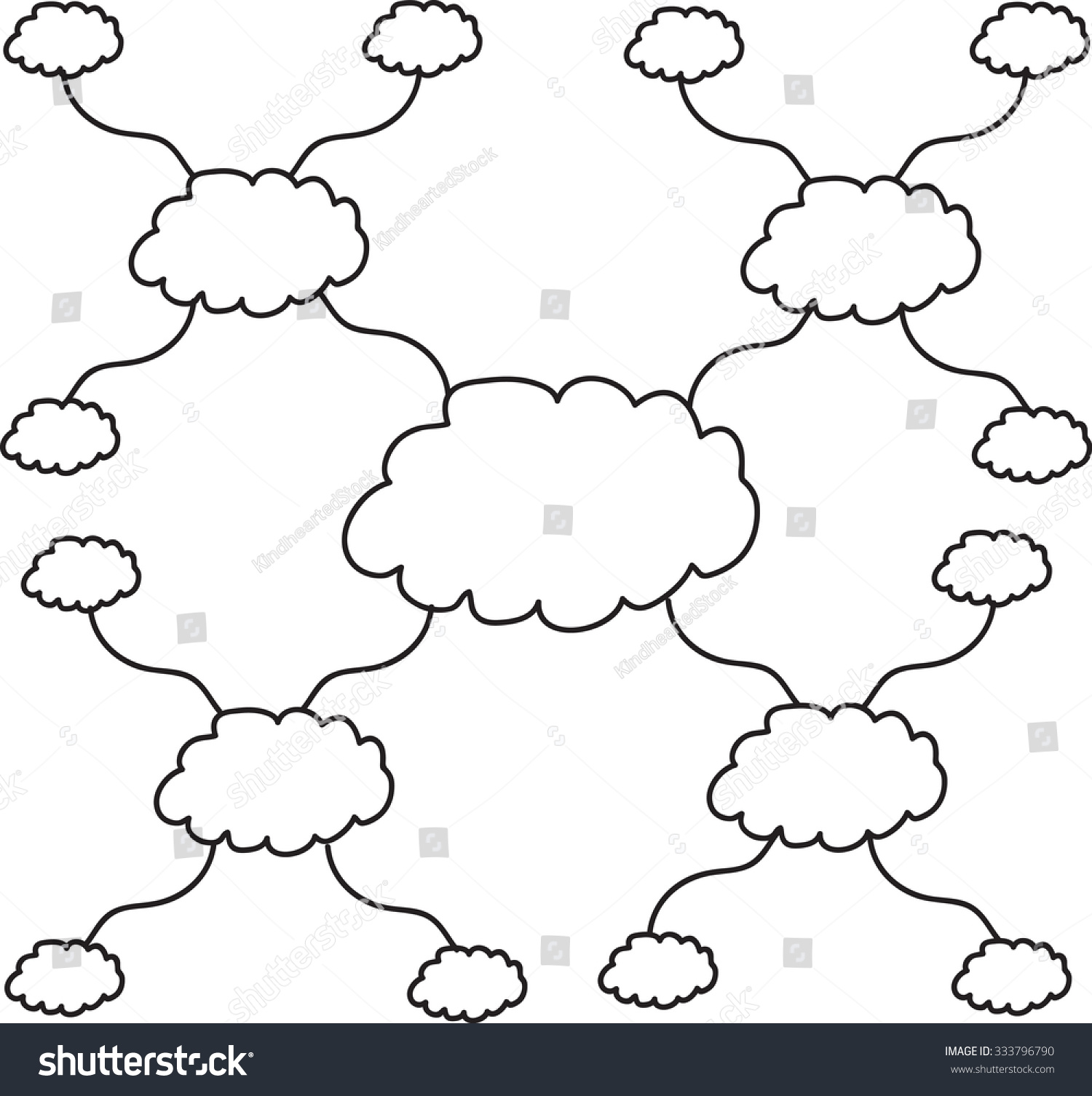 Cloud mind mapping model flow chart stock vector 333796790 cloud mind mapping model flow chart template nvjuhfo Images