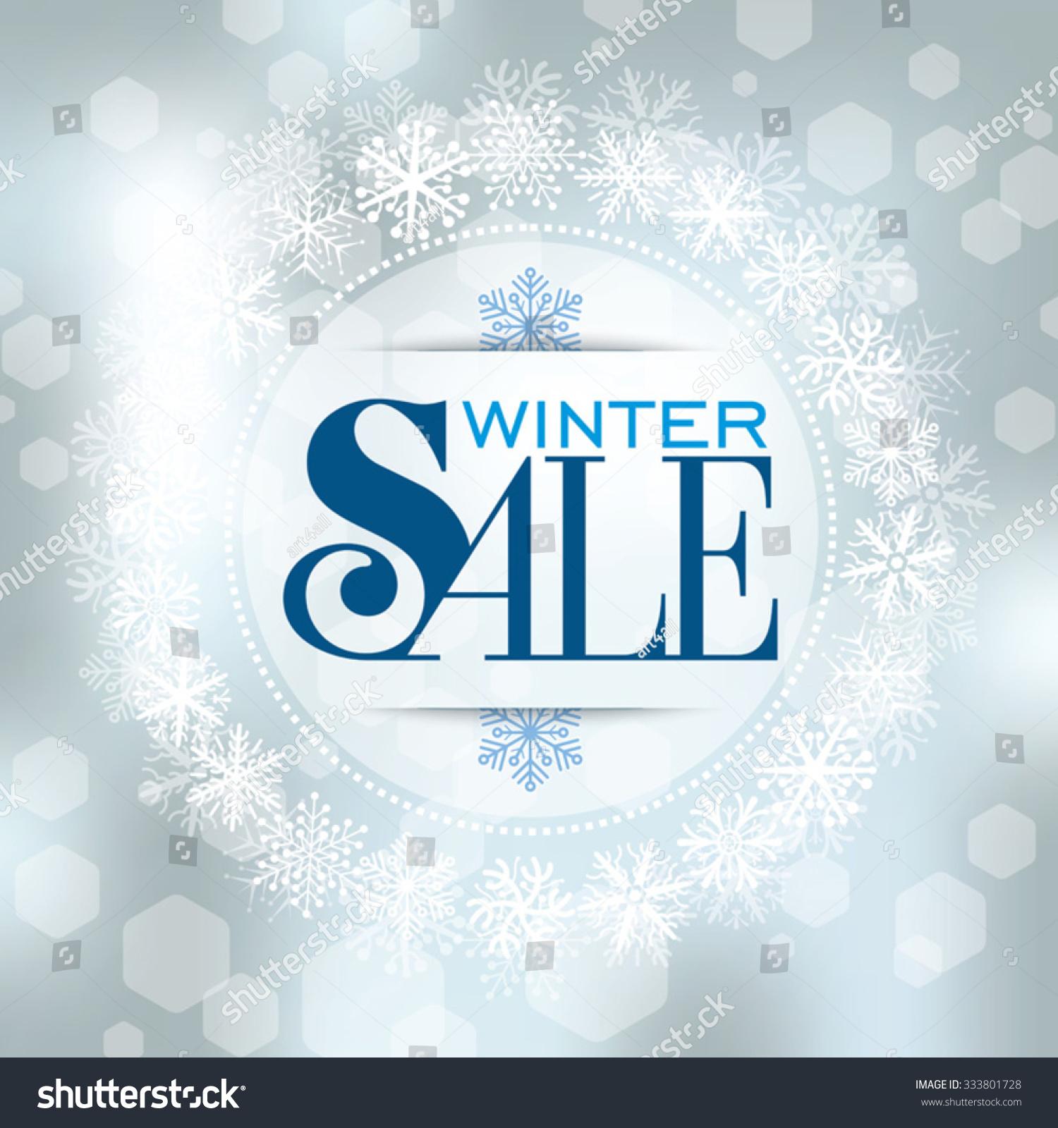 winter sale poster design template background のベクター画像素材