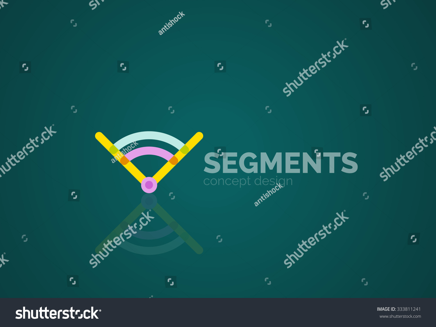 Outline Minimal Abstract Geometric Logo Linear Stock Vector Royalty