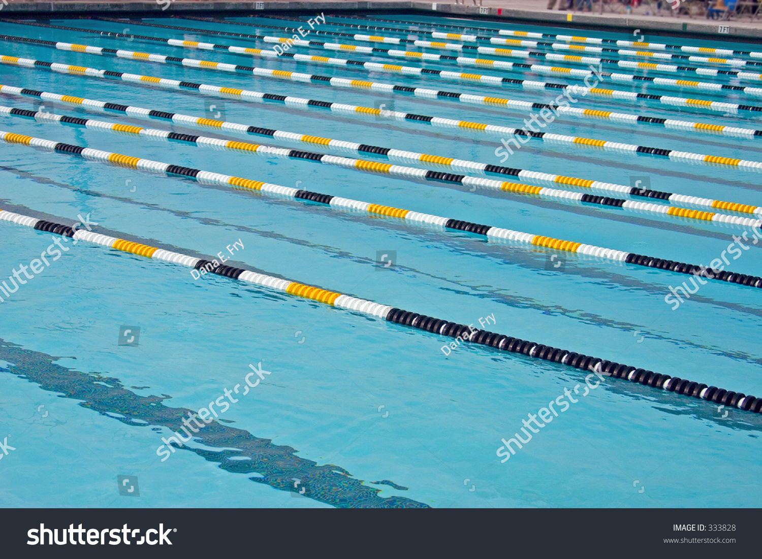 an olympic size swimming pool for competition