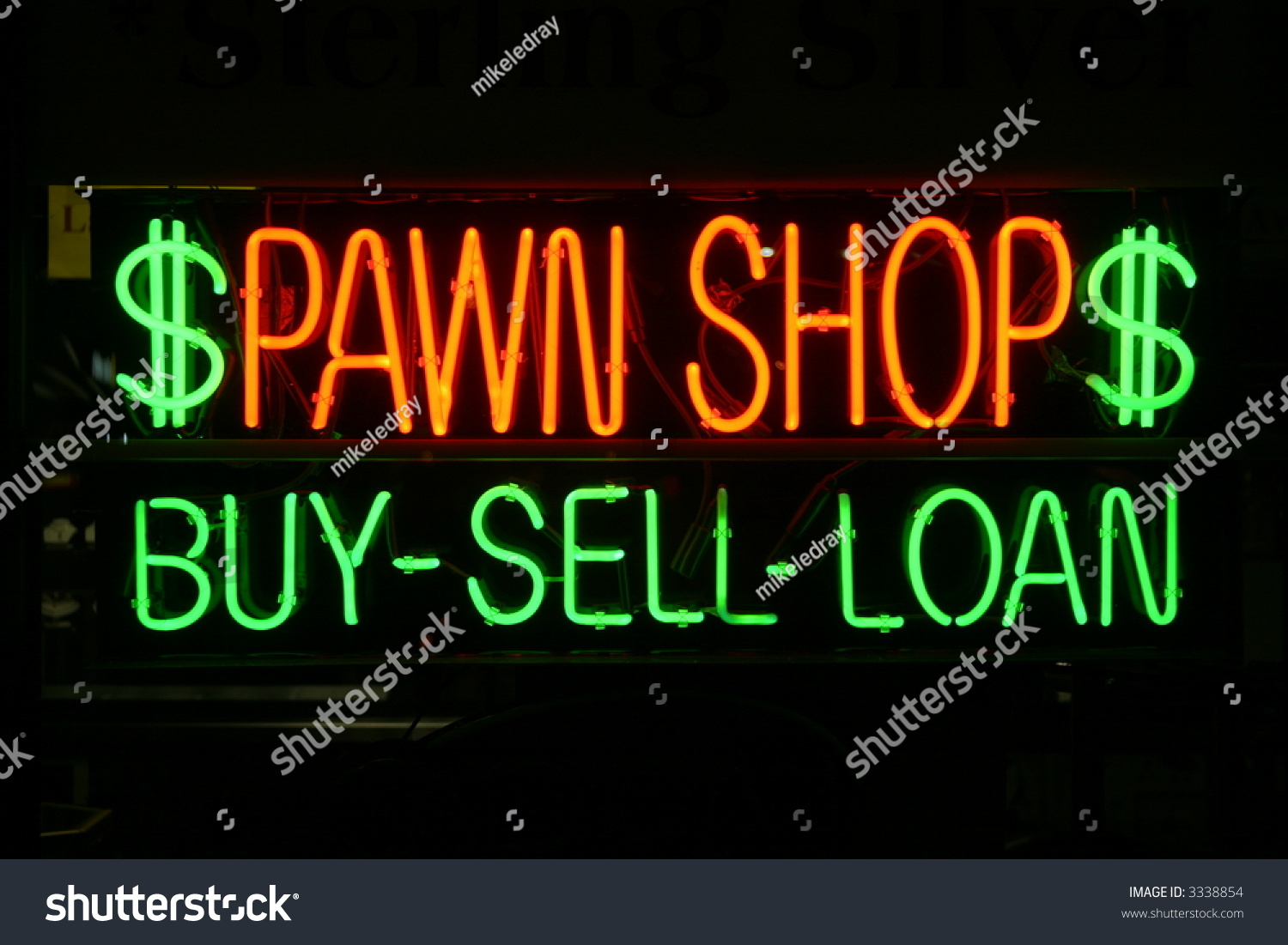 Neon sign series pawn shop buy sell loan stock photo 3338854 shutterstock Easy pond shop