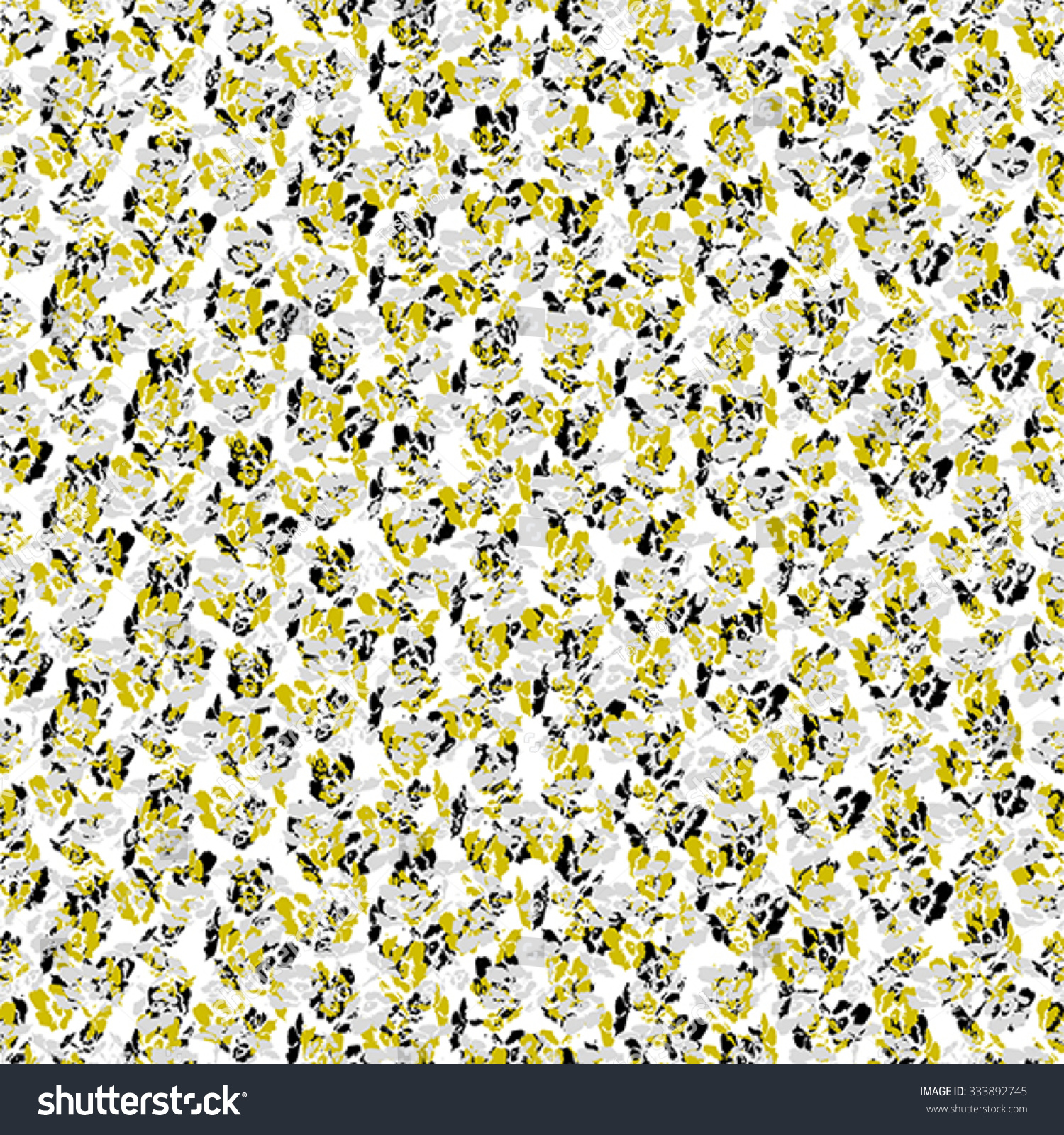 Abstract Flower Seamless Pattern Grey Black Stock Vector Royalty