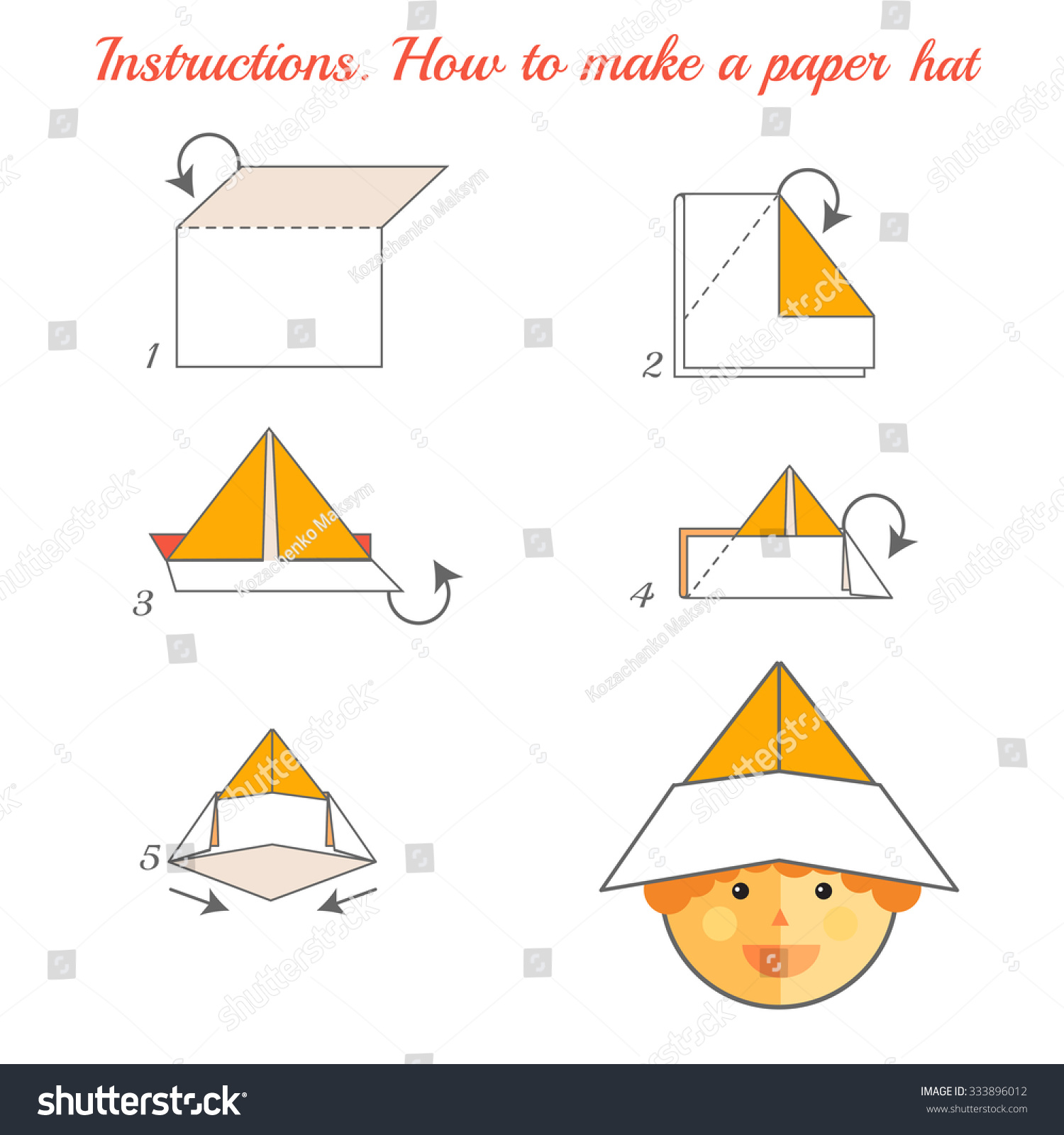 Instructions To Make A Paper Pirate Hat