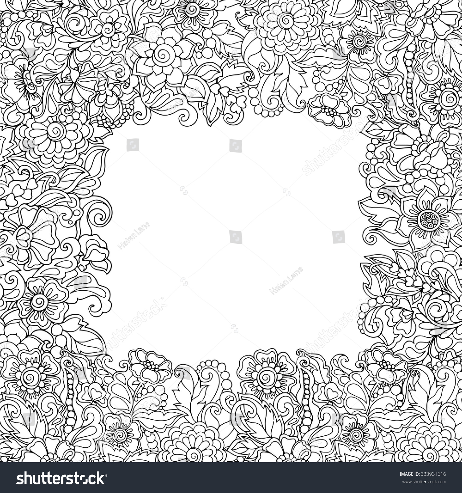 clip art frame coloring page mycoloring free printable coloring