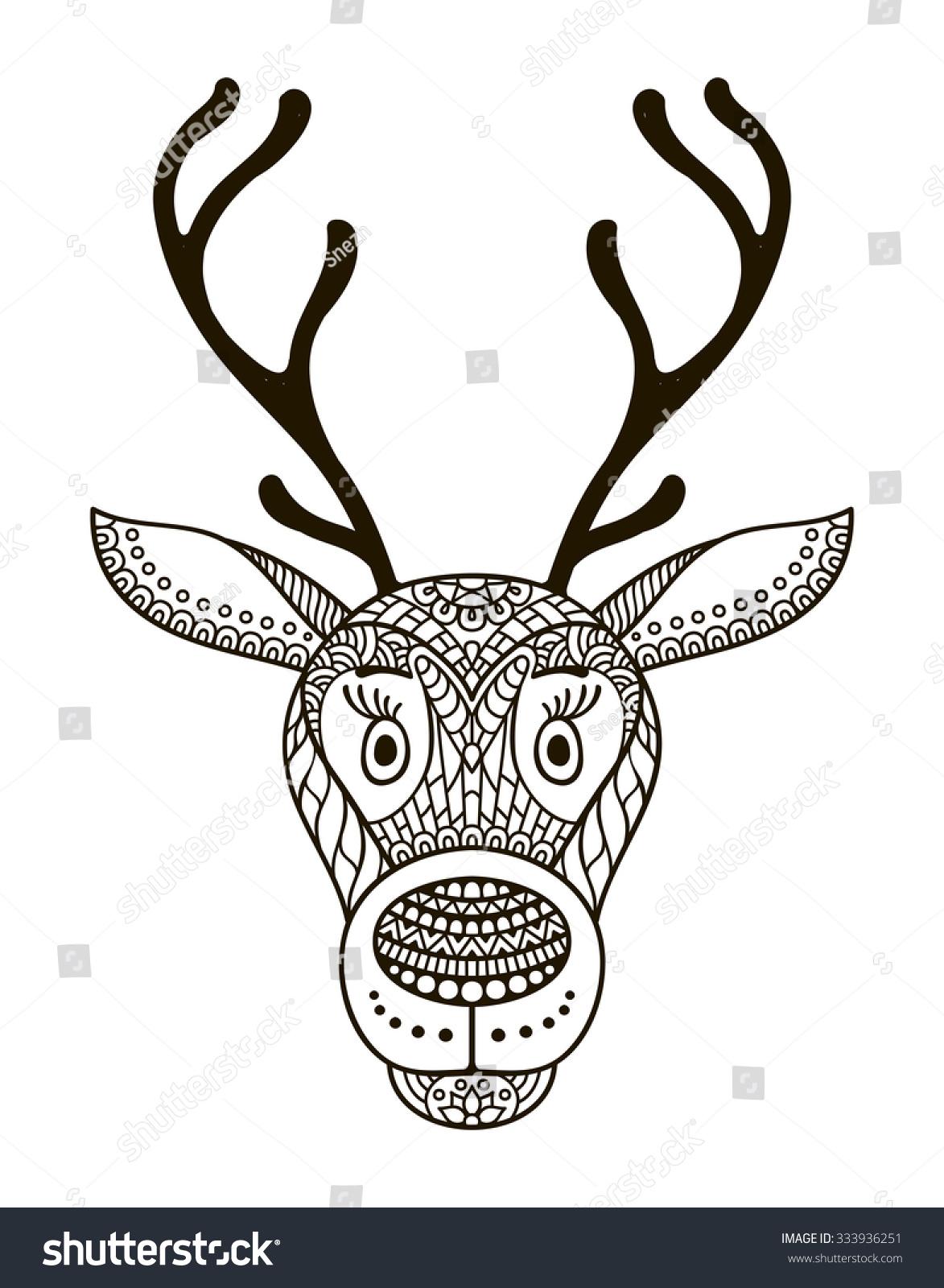Royalty-free Vector elk. Vintage decorative elements… #333936251 ...