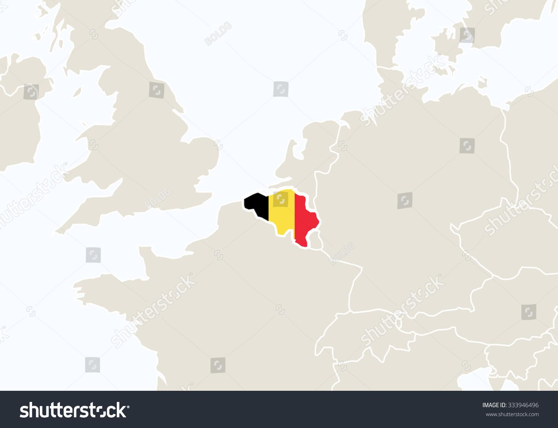 Europe highlighted belgium map vector illustration stock vector europe with highlighted belgium map vector illustration gumiabroncs Images
