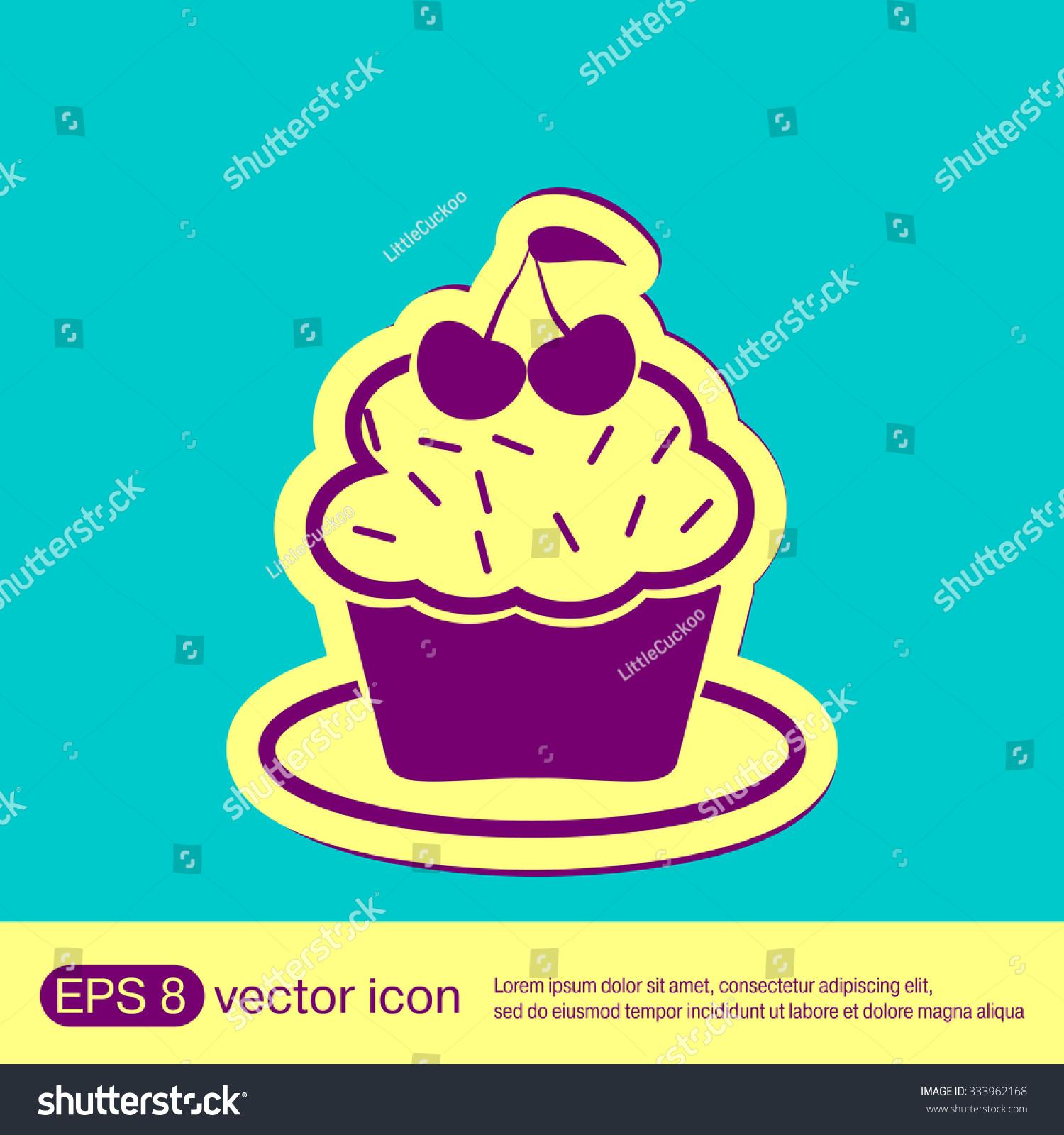 Birthday cake icon symbol cake celebrating stock vector 333962168 birthday cake icon symbol of cake celebrating the birthday of the loaf biocorpaavc