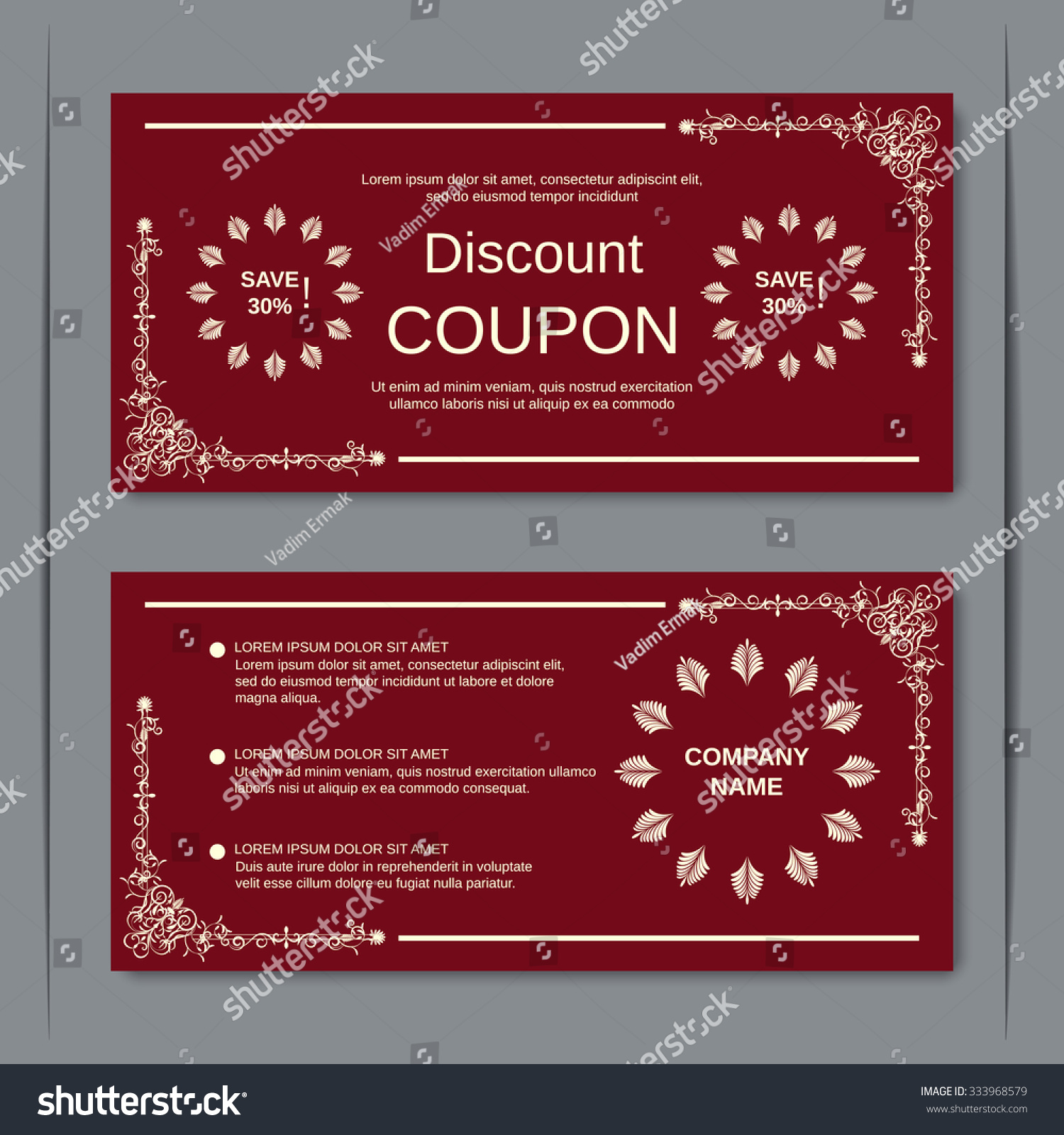 discount coupon gift voucher gift certificate stock vector discount coupon gift voucher gift certificate invitation card label sticker design